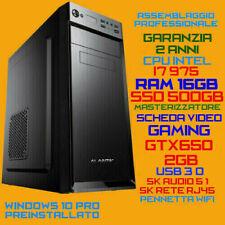 COMPUTER ASSEMBLATO PC INTEL i7-975 RAM 16GB SSD500GB DVDRW GTX650-2GB USB3.0