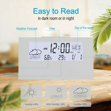 Digital Desktop Alarm Cock With Thermometer Hygrometer Electronic LCD Kids Beds