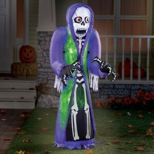 5-Ft Spooky Skeleton Reaper Airblown Inflatable Outdoor Halloween Decoration