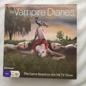 The Vampire Diaries Board Game  Pressman Brand TV Show Open Box see description