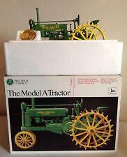 John Deere Model A Tractor on Steel Precision Classics #1 ERTL 1/16 Nice Detail!