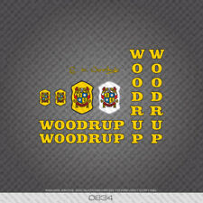 0834 Woodrup Bicycle Stickers - Decals - Transfer - Yellow