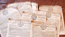 """NOBLESSE ROYAUTE 1796 lot du journal revolutionnaire """"COURIER DE PARIS """"vignette"""
