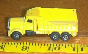 Vintage 1/64 scale Welly yellow Dump Truck construction vehicle