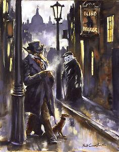 Mick Cawston Dubious Deeds. funny widlife fox, fine art print