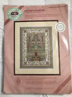 From The Heart Garden Sampler Counted Cross Stitch Kit #53538 1989 Dimensions