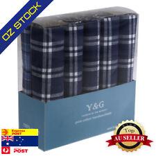 YEB0206 Grey Brown Solid Cotton Bridegrooms Gift 4 Pack Hankies Set By Y/&G