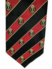 "CHRISTIAN ARMAND Mens Tie Red/Black Striped 100% Silk 4"" Width 60"" Length"