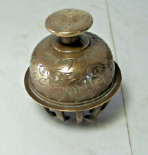 Vintage India Brass Claw Bell with matching Brass bowl