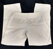 Ann Taylor LOFT Womens Petites 8P Marisa Pants Jeans Beige Trousers Straight AJ