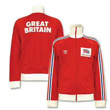 Adidas Great Britain Olympic Tracktop Jacket Vintage Originals Size Large New !