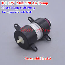 DC 12V Mini 520 Air Oxygen Pump for Aquarium Fish Water Tank With Black Bracket