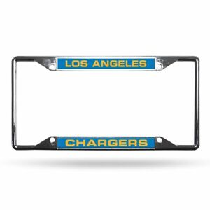 Los Angeles Chargers NFL All Corner EZ View Metal Laser Cut License Plate Frame