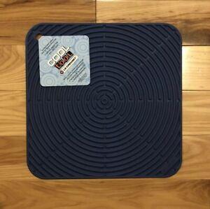 """Cobalt"" LE CREUSET 11.25"" Square Silicone Trivet Mat Potholder Hot Pad Gripper"