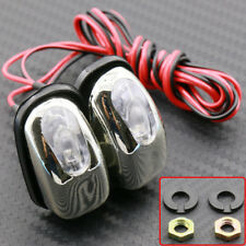 Universal 2pcs White LED Light Windshield Washer Wiper Jet Water Spray Nozzle