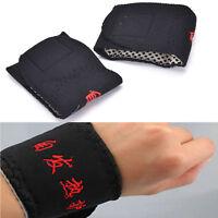 2 Pcs Magnetic  Wrist Brace Support Belts Spontaneous Heating,Strap Band^c