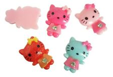 Resin Hello Kitty Cat Stripe Flatback Cabochon Scrapbooking Supplies DIY Glue On
