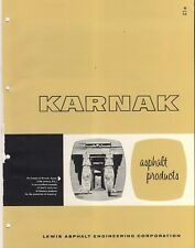 1961 KARNAK Asphalt Products ASBESTOS Roofing Flooring Insulation VTG Catalog