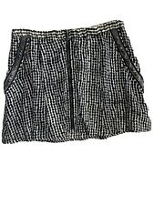 BCBGeneration Size XS Mini Skirt Pockets Multi Cream Black Metal Details