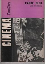 L'AVANT-SCENE n°57 Josef Von Sternberg L'ANGE BLEU Marlène Dietrich 1966