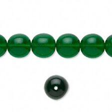Czech Druk 10mm  Emerald Green  25 Per