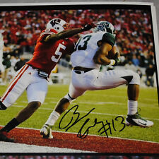 Bennie Fowler auto signed Game Winning football photo Michigan State Spartans !