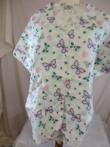 Crest Flowers &  Hearts Butterfly in pink Hearts in orange size XS New no tag