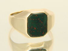 10k Yellow Gold Bloodstone Cabochon Vintage Ring Size 5.5