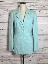 Vintage Adrienne Vittadini Sz 6 Blue Houndstooth 2 Piece Suit Lined