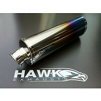 Suzuki GSXF 650 GSX 650 F Hawk Oval Coloured Ti Exhaust SL