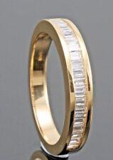 0.50CT BAGUETTE CUT DIAMOND HALF ETERNITY WEDDING RING IN 18K YELLOW GOLD