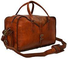 Mens Genuine Leather Vintage Duffle Gym Large Travel Weekend Luggage Bag ...