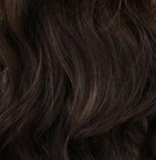 "23"" Clip In ONE PIECE WAVY Hair Extension Medium Brown #6 FULL HEAD 1pc"