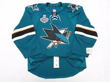 SAN JOSE SHARKS HOME 2016 STANLEY CUP TEAM ISSUED REEBOK EDGE 2.0 JERSEY SIZE 58