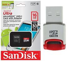 SanDisk 16GB Ultra Micro SD HC Class 10 Memory Card For HTC One M8 nexus9 tablet