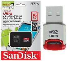 SanDisk 16GB Ultra Micro SD HC Class 10 Memory Card For HTC Google nexus tablet