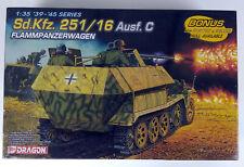 Dragon #6202 1:35 Scale Sd.Kfz. 251/16 Ausf. C Flammpanzerwagen Plastic Model Ki