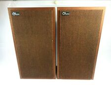 Vintage Ohm Acoustic Corp Electrodynamic Model E 1960's Speakers Made USA RARE