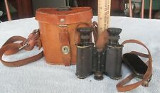 Wwi Era C P Goerz Army Navy Binoculars 8x in Compass Case Great Optics German