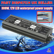 300W DC12v Waterproof Transformer Power Supply Adapter LED Lights 25A UK Stocks