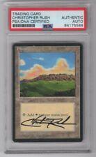 1995 MTG Magic The Gathering Christopher Rush Signed Plains Card PSA/DNA (C)
