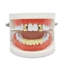 Silver Gold Plated Hollow Teeth Grillz Top & Bottom Grill Set Halloween PF