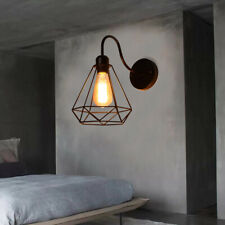 E27 Rustic Wall Light Metal Cage Sconce Fixture Lamp Wall Luminaire Decor