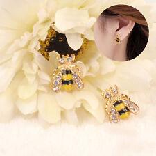 Lovely Ear Stud Women Jewelry E Hot Charm Rhinestone Bumble Bee Crystal Earring