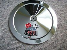 1966-1970 CHEVY  427 Chrome Air Cleaner Replacement Top (H/P Decals Available)