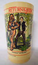VINTAGE! 1983 Deka Star Wars-Return of the Jedi Plastic Cup-Leia-Han-Chewbacca