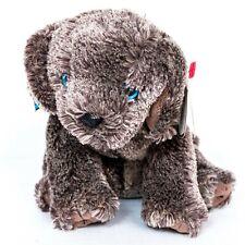 "Ty Beanie Babies Frisbee Gray Dog Tag Bow Plush 7"" Stuffed Animal Toy"