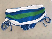 TOMMY BAHAMA TSW49107B Rugby Notebook Stripe Shirred Skirted Bikini Hipster, XS