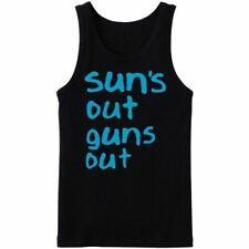 Sun's Out Guns Out Vest - Funny t-shirt joke humour frat party spring break 22