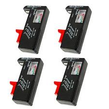 4 Pack Battery Tester, Universal Battery Checker for Aa/Aaa/C/D / 9V / 1.5V Cell